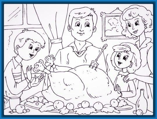 Dibujo De Una Familia Cenando En Navidad Dibujo De Navidad