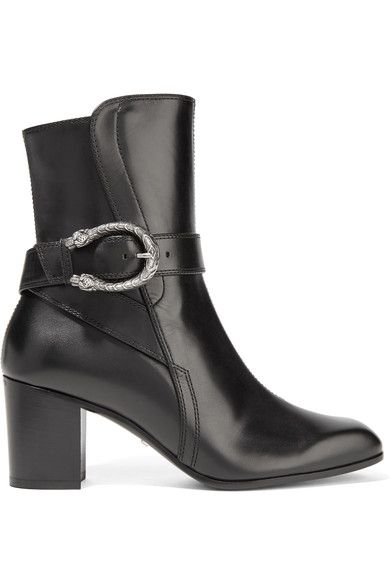14579a3d9bd Gucci - Dionysus Leather Ankle Boots - Black - IT