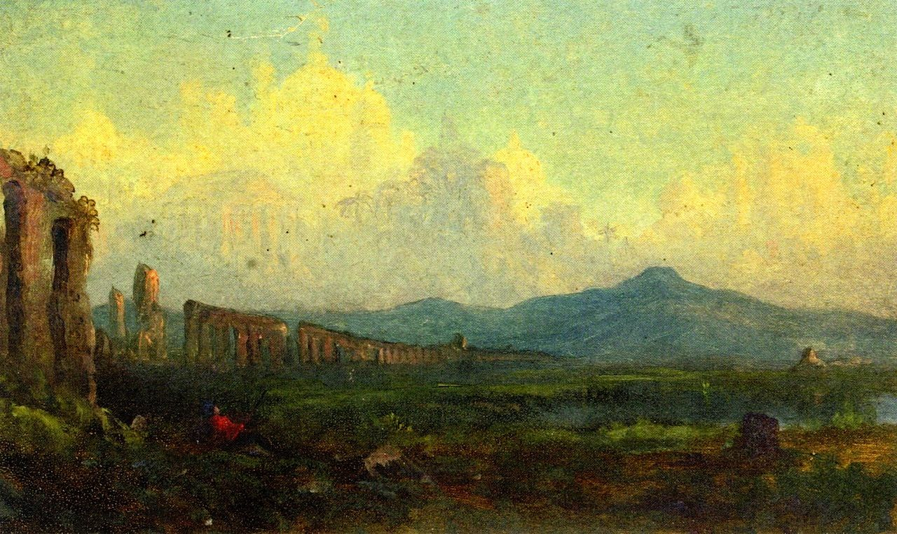 Christopher Pearse Cranch - circa 1858 Ruins of the Roman Aqueduct