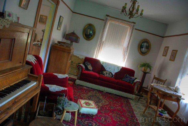 1940s Living Room miniature interiors decor Pinterest
