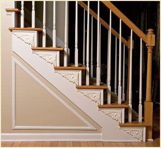Exceptional Flex Trim Stair Design: Inexpensive Stair Brackets In Flexible Molding.