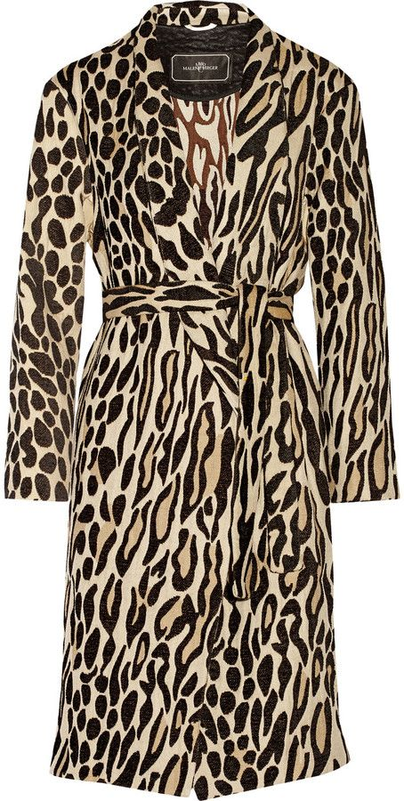 Possibly the perfect leo coat? By Malene Birger Apponia leopard-jacquard coat