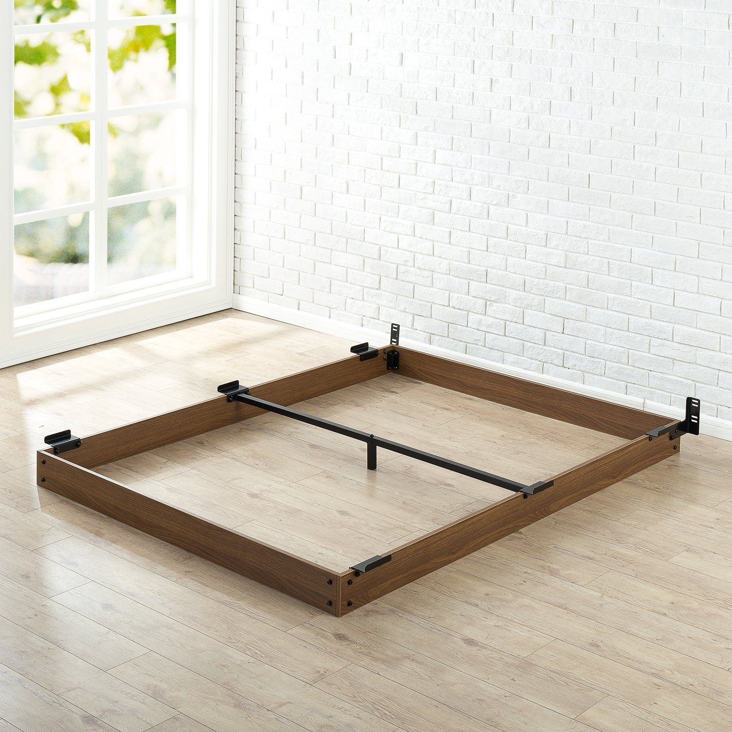 Amazon Com Zinus 5 Inch Wood Bed Frame For Box Spring Amp
