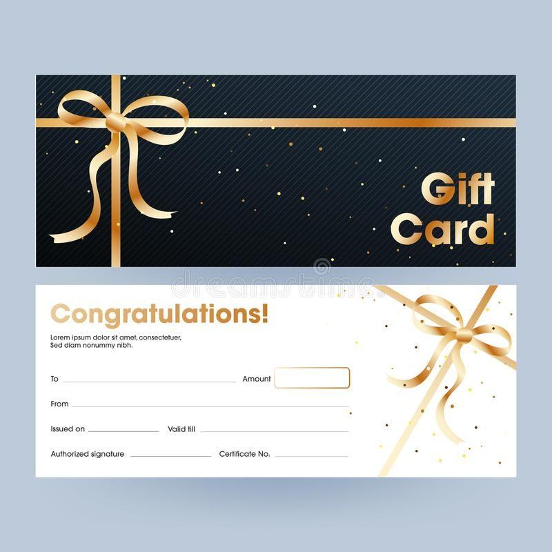 Gift Card Or Voucher Horizontal Banner Set Gift Card Or Voucher