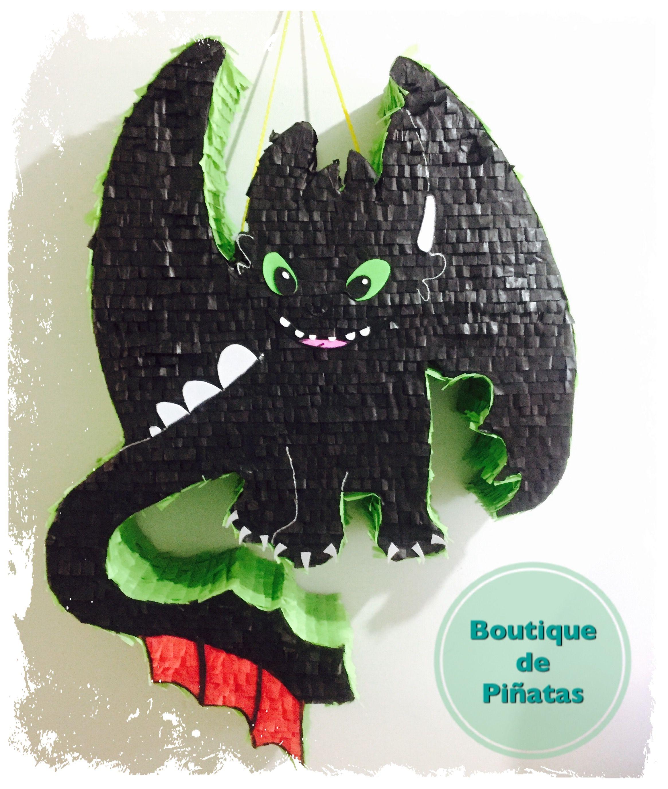 Chimuelo Toothless Como Entrenar A Tu Dragon Pinata 580 Pinatas Para Ninos Pinatas Fiesta Del Dragon