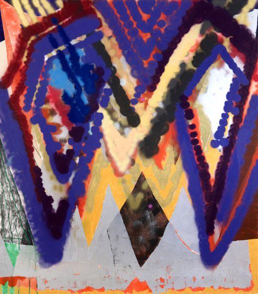 Keltie Ferris Aviator, 2008. Oil, acrylic & spray-paint on canvas. 80 x 70 in. / 203 x 178 cm.