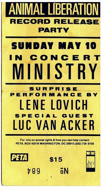 Old Ministry Flyer Industrial Music So Big In The Late 80s In