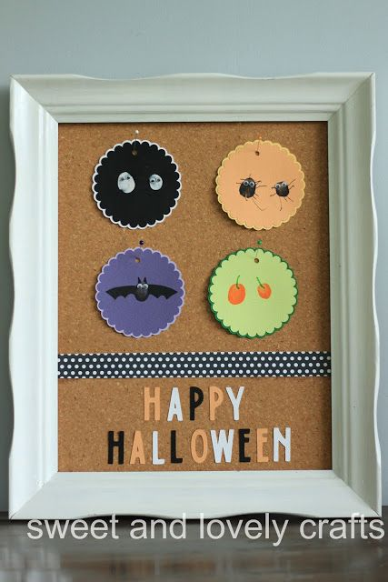 Halloween thumbprint art