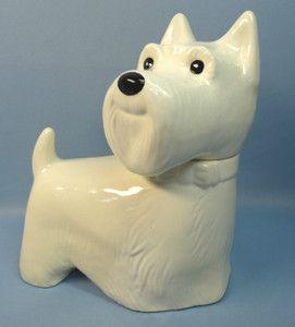Scottie White Dog Cookie Jar