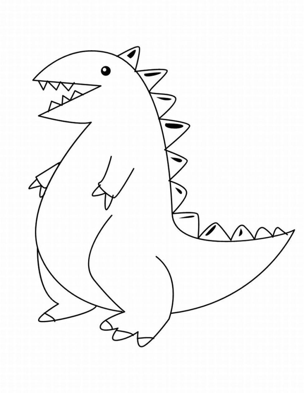 Cute Dinosaur Coloring Pages | Cute cartoon dinosaur coloring pages ...