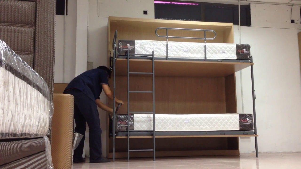 Dorm room loft bed ideas   Foldable Bunk Bed  Modern Bedroom Interior Design Check more at
