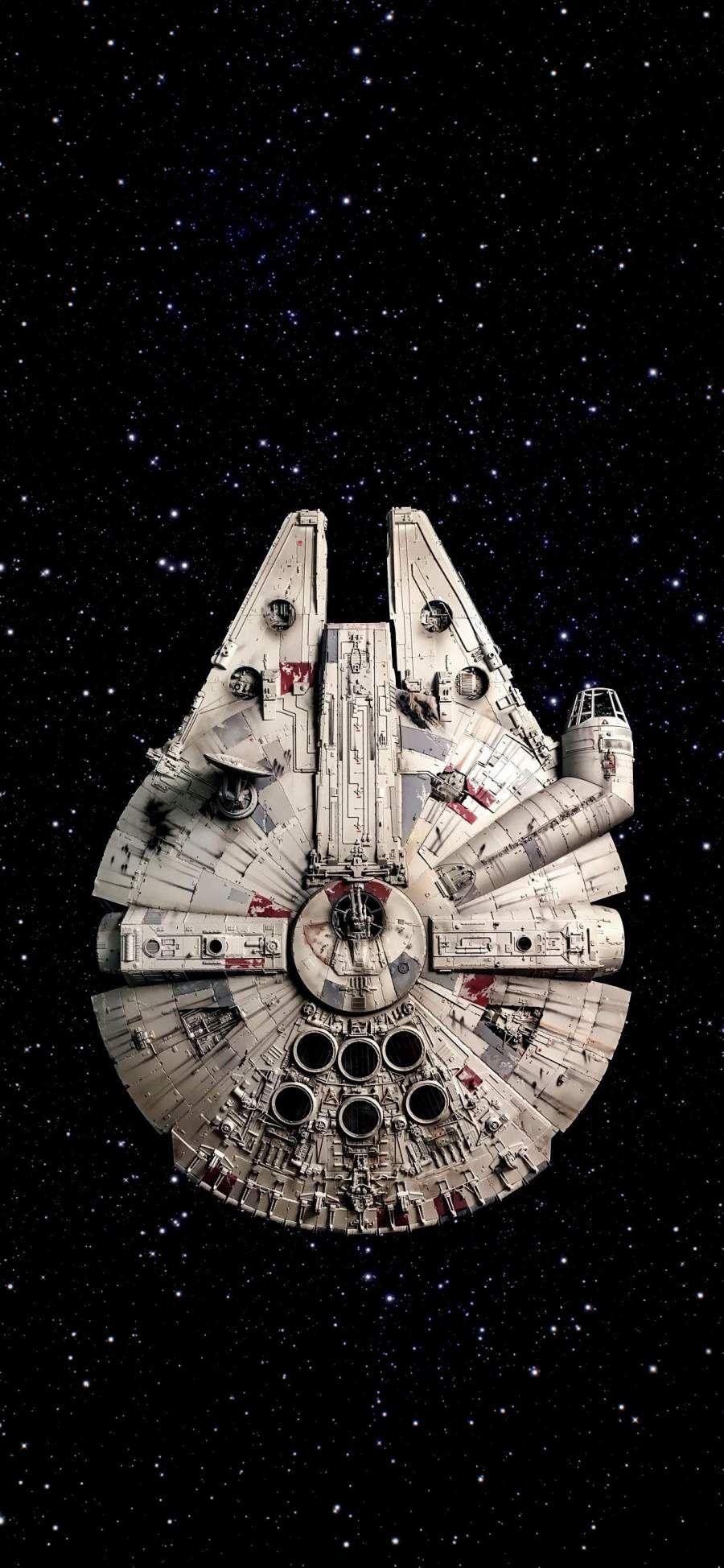 Star Wars Millennium Falcon Ship iPhone Wallpaper - iPhone Wallpapers