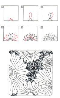 Laralina New Tangle Flowtus Drawing Ideas Pinterest