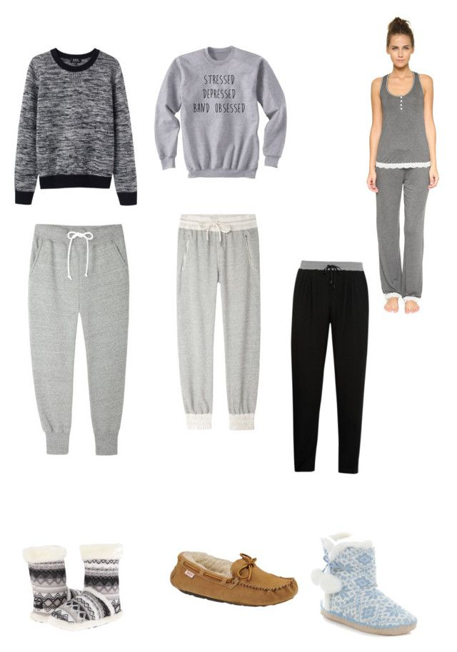 """""""Lazy day outfits"""" by lisha30-2010 ❤ liked on Polyvore featuring Sacai Luck, AR SRPLS, A.P.C., M&F Western, Slippers International, Honeydew Intimates and DKNY"""