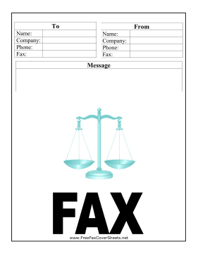 This Printable Fax Cover Sheet Features A Scale And Is Great For