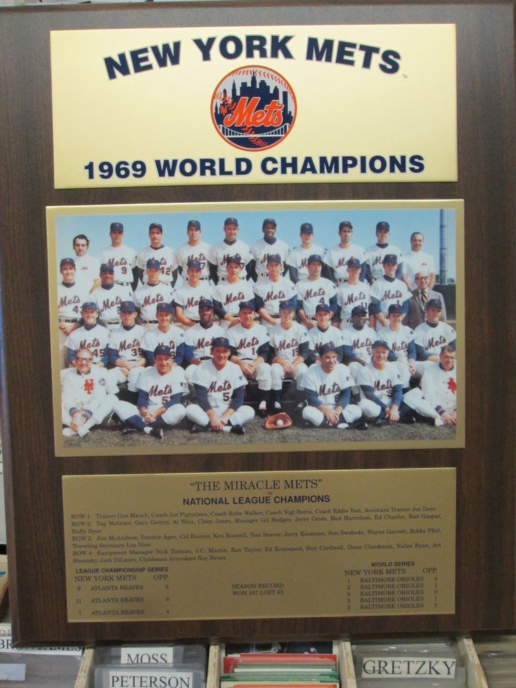 1969 NY Mets World Series Champions Team Plaque by Healy