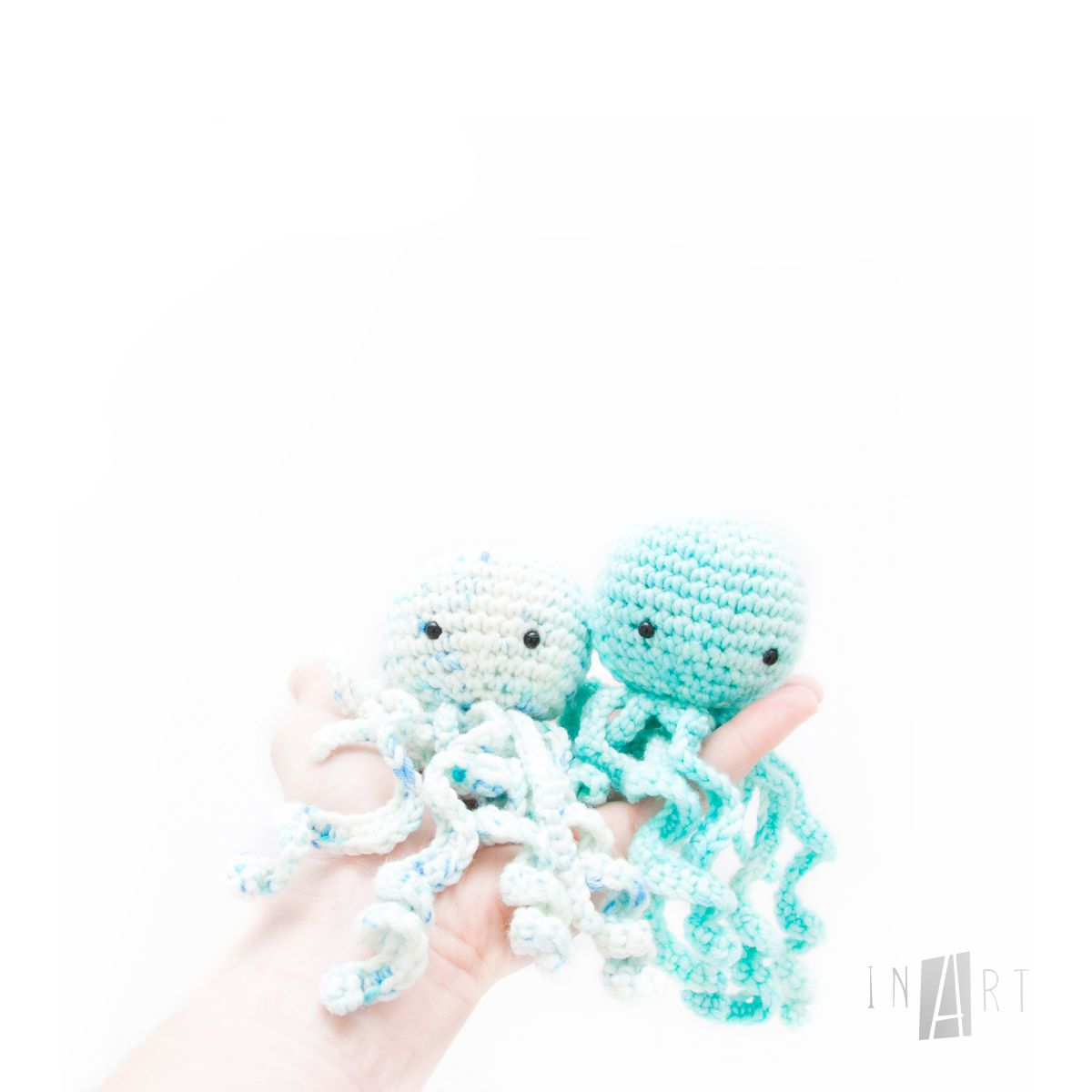 Free Crochet Jelly Fish Pattern by Ina Rho (InArt) | Easy crochet ...