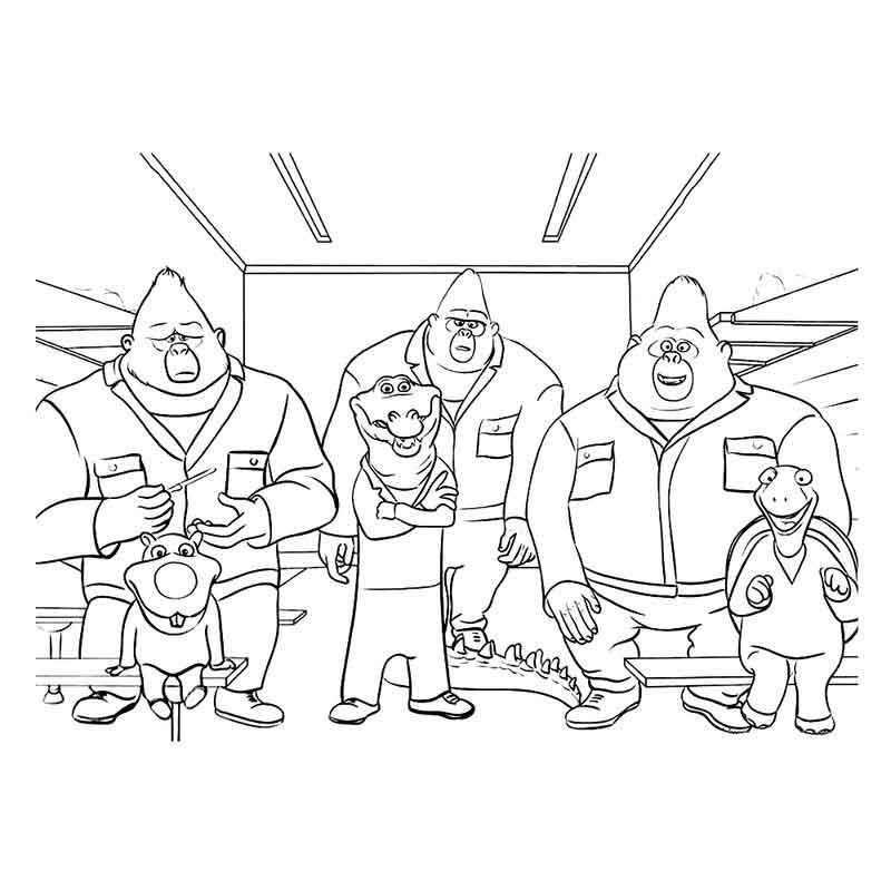 Characters From Sing Coloring Pages Coloring Pages Unicorn Coloring Pages Cartoon Coloring Pages