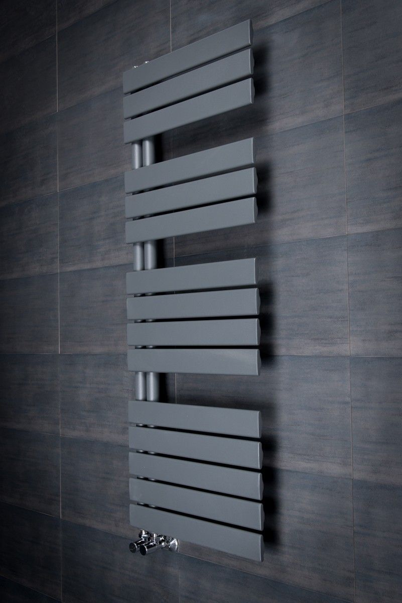 Natasha ladder rail straight modern electric towel radiator in chrome - Kristiansund 1380 X 500mm Flat Sand Grey Designer Heated Towel 1 Blade Fan Spiderman Towel Radiator Bathroom Radiators Rail