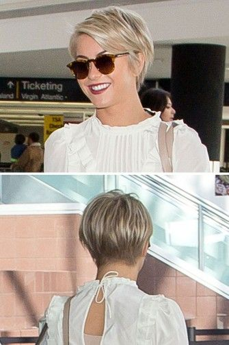 Julianne Hough Trägt Einen Pixie Cut Hairstyles Front And
