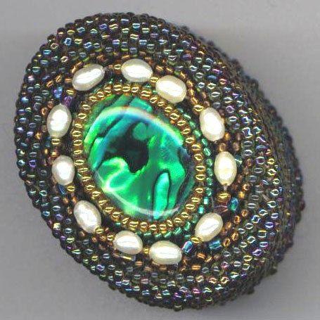 Beaded Beadwoven Box . Jewelry Box . Green Oval by enchantedbeads, $59.00