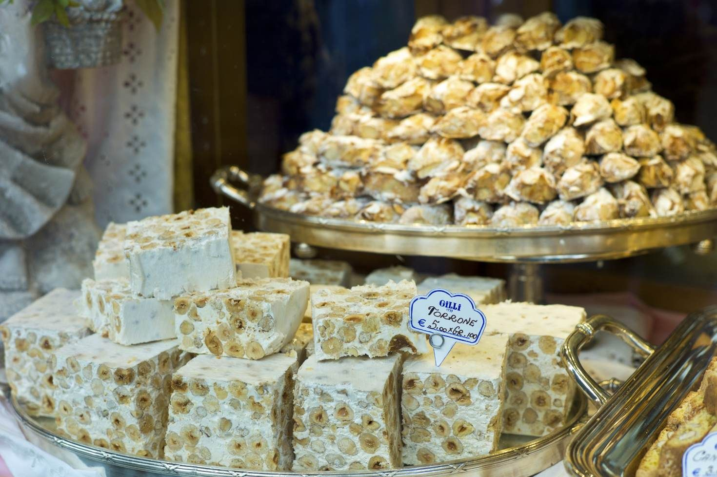 Delicious torrone on display in Caffe Gilli #Italy @LonelyPlanet