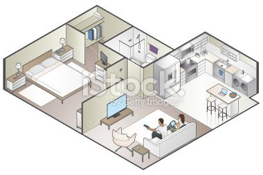 Modern Apartment In Isometric View See All In This Style With