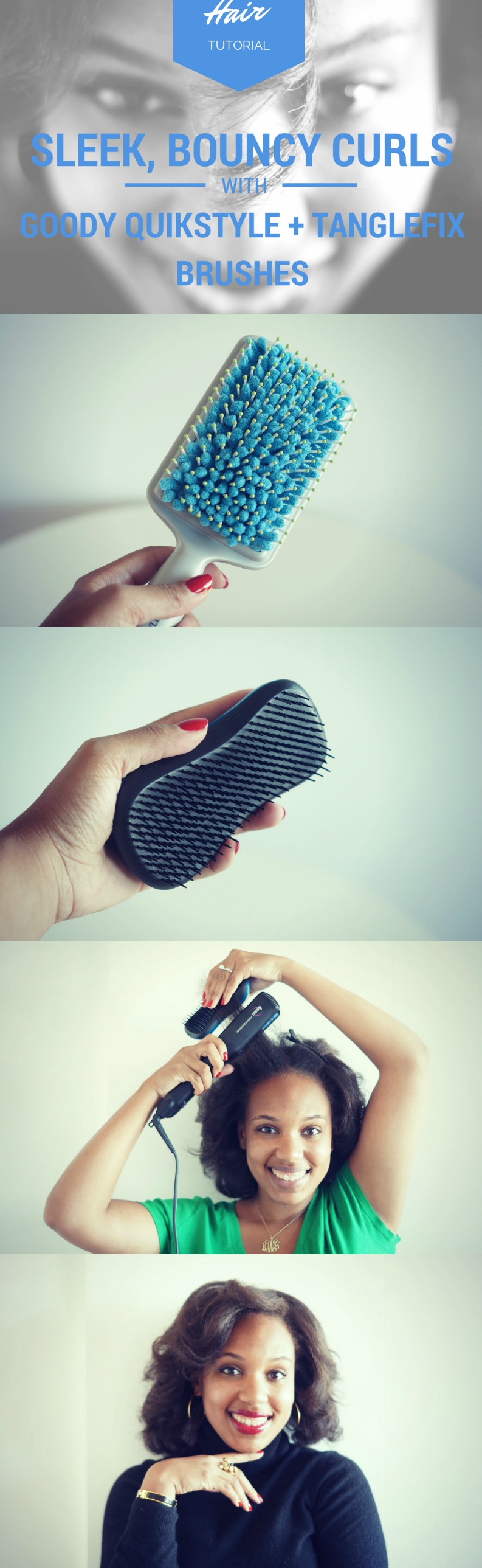 Silky, Bouncy Flat Iron Tutorial for Natural Hair #GoodyGorgeous #PMedia #ad