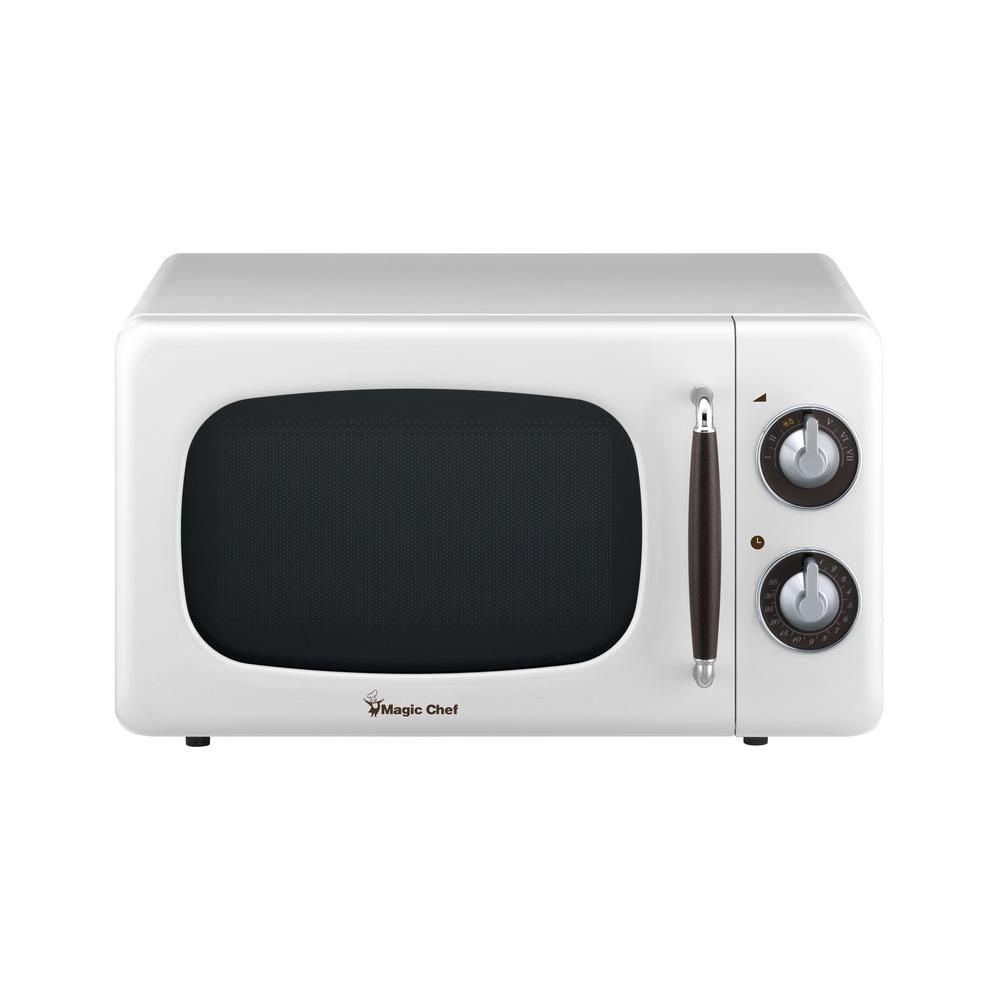 Magic Chef Retro 0 7 Cu Ft Countertop Microwave In White