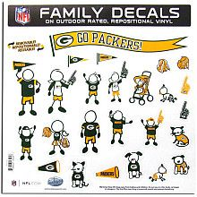 Green Bay Packers family decals.  Yes, please.