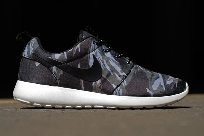 nike roshe run + tiger stripe camo crowdpleaser . if youre bored of camo and nike roshe runs then .
