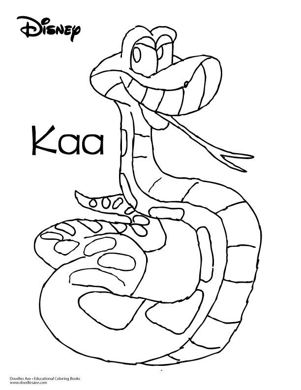 Jungle Book Coloring Sheet Kaa Jungle Book Coloring Books Doodle Coloring
