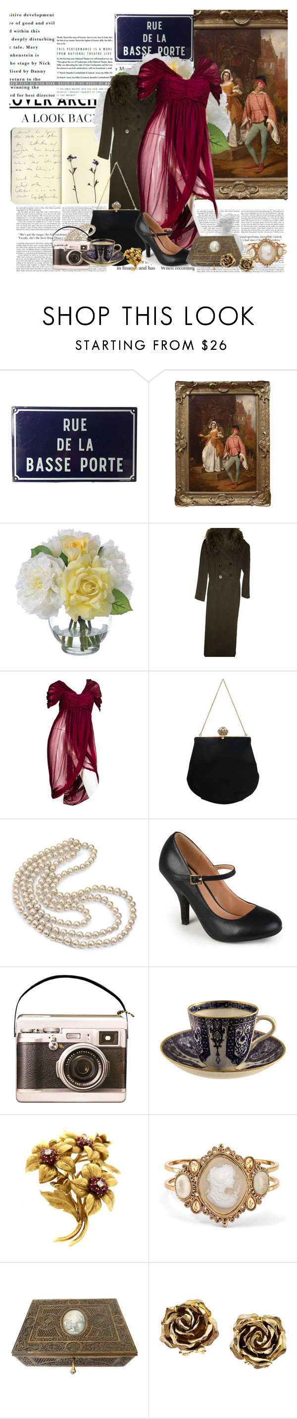 """""""rue de la"""" by noextrate ❤ liked on Polyvore featuring Moleskine, Diane James, Marella, Alexander McQueen, Koret, Sweet Romance, Journee Collection, Tiffany & Co. and Palm Beach Jewelry"""