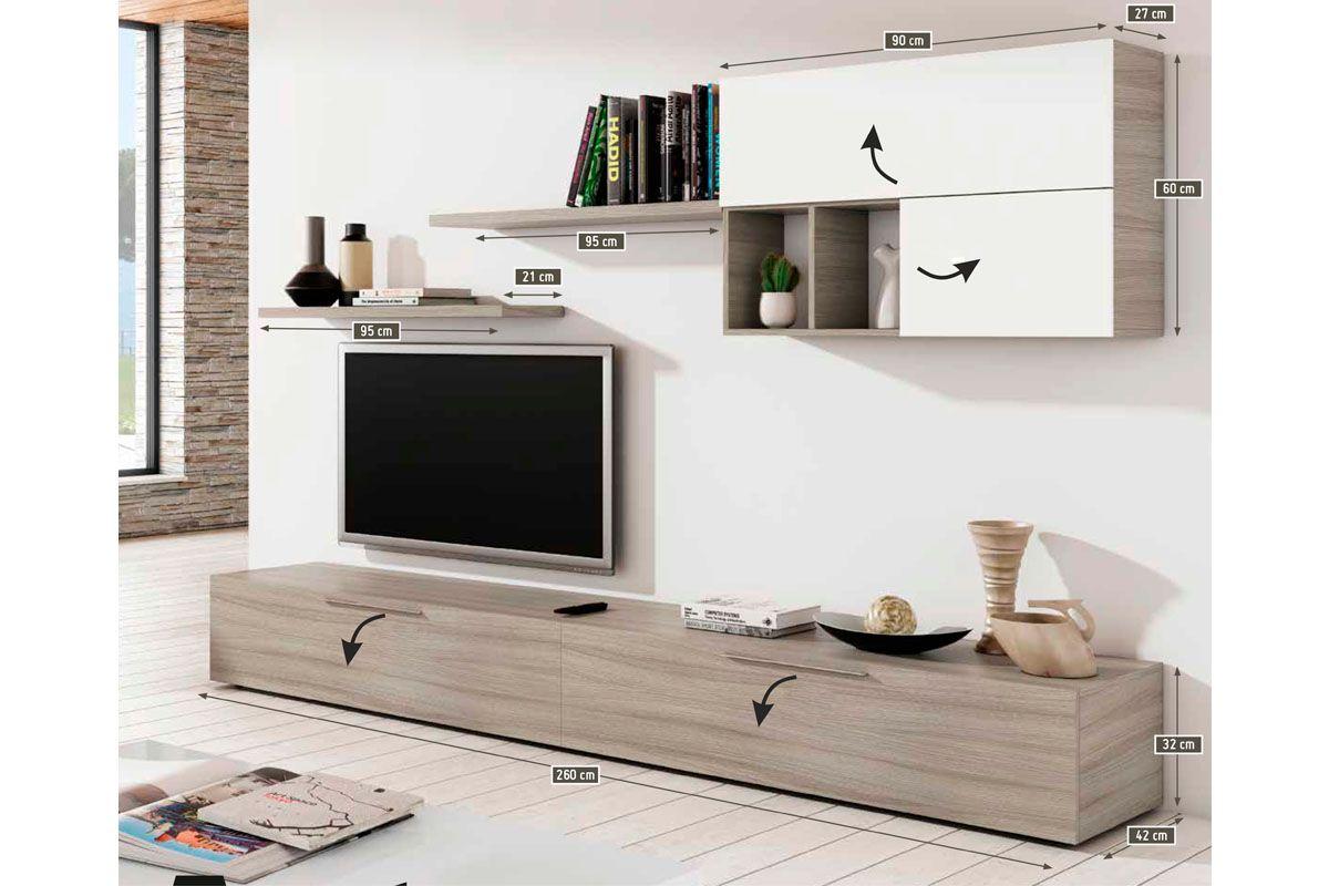 Vente Fashion Living 22824 S Jour Compositions Murales  # Composition Murale Tv