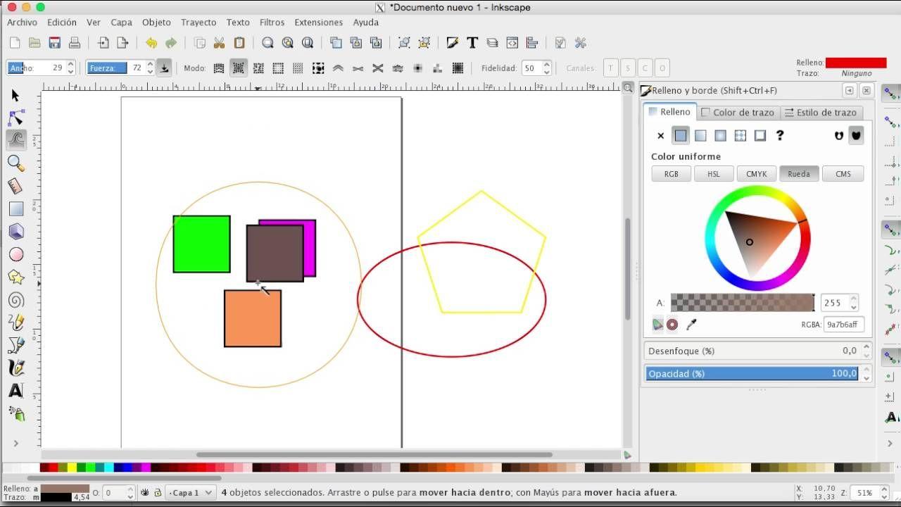 Como hacer dibujos en la computadora con Inkscape  Parte 2