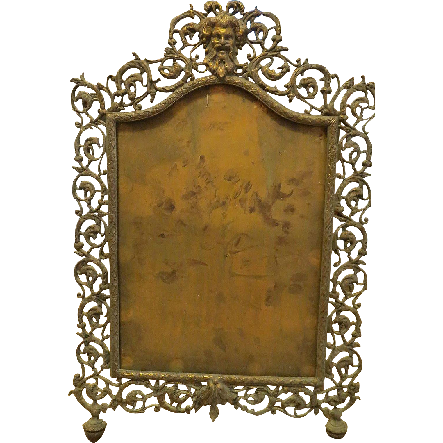 Antique Repousse Large Brass Frame Highly Ornate Vintage Brass Frame Antique Brass Frame Antique Picture Frames