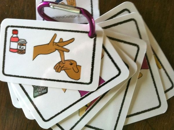 ASL flashcards for communication exchanges - for non-verbal students of all ages . (1000) in a set