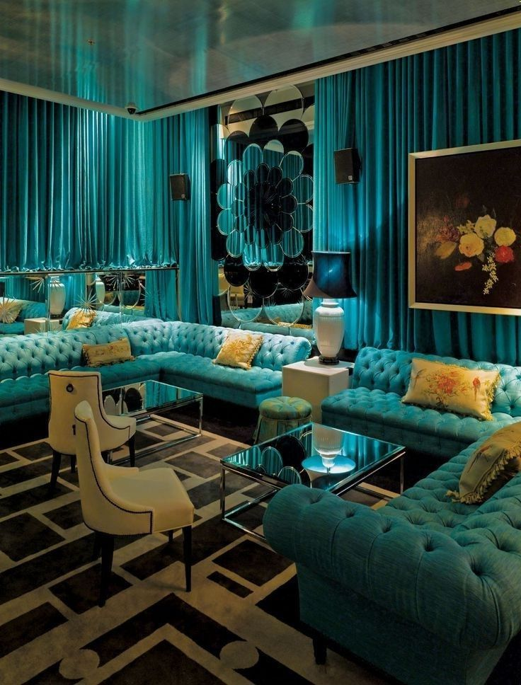 Turquoise And Gold Bedroom Ideas Interior Decorating Home 736x968 Salon Color Scheme
