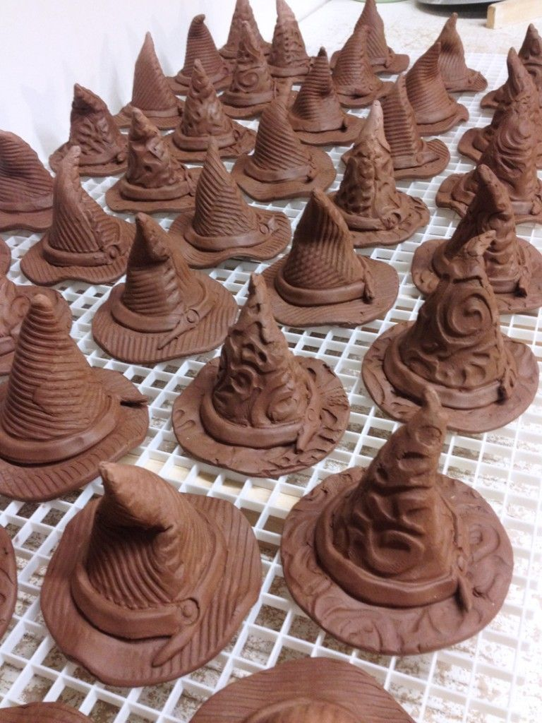 witch hats drying                                                       … #potteryclasses
