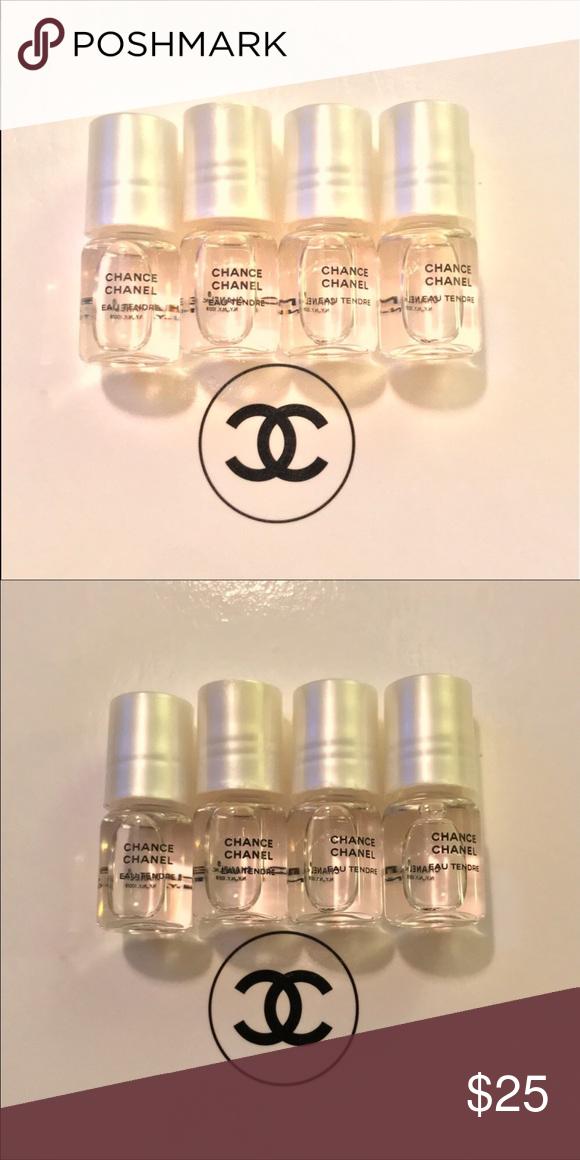 4 Authentic mini Chanel roller balls- eau tendre 4 Authentic Chanel roller balls- eau tendre Makeup