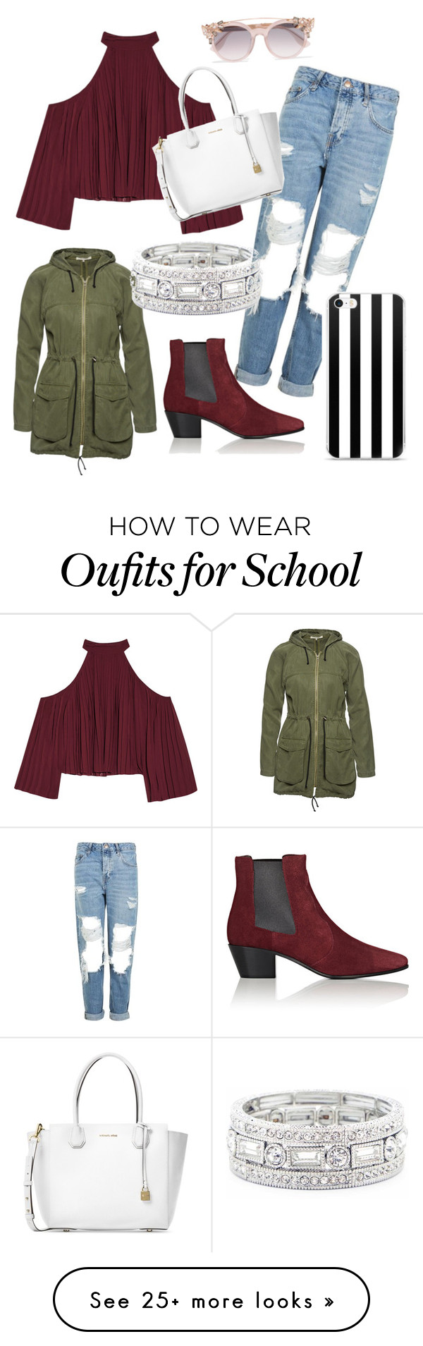 """School chic"" by sydport-1 on Polyvore featuring W118 by Walter Baker, Topshop, Yves Saint Laurent, Michael Kors, Wunderwerk, Jimmy Choo and Sole Society"