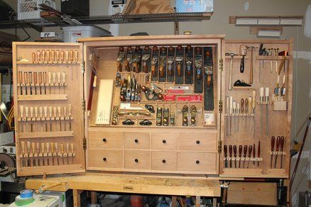 Large Tool Cabinet Woodworking Pinterest Woodworking Tools