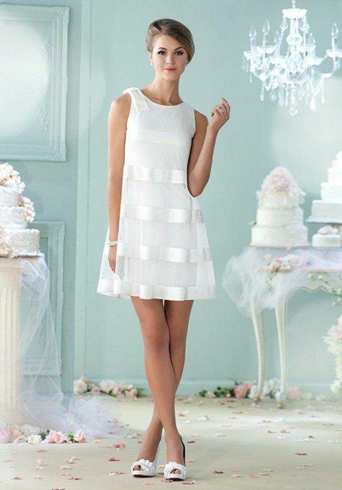 Trouvez votre robe de mariée courte - 70 magnifiques idées en photo ...