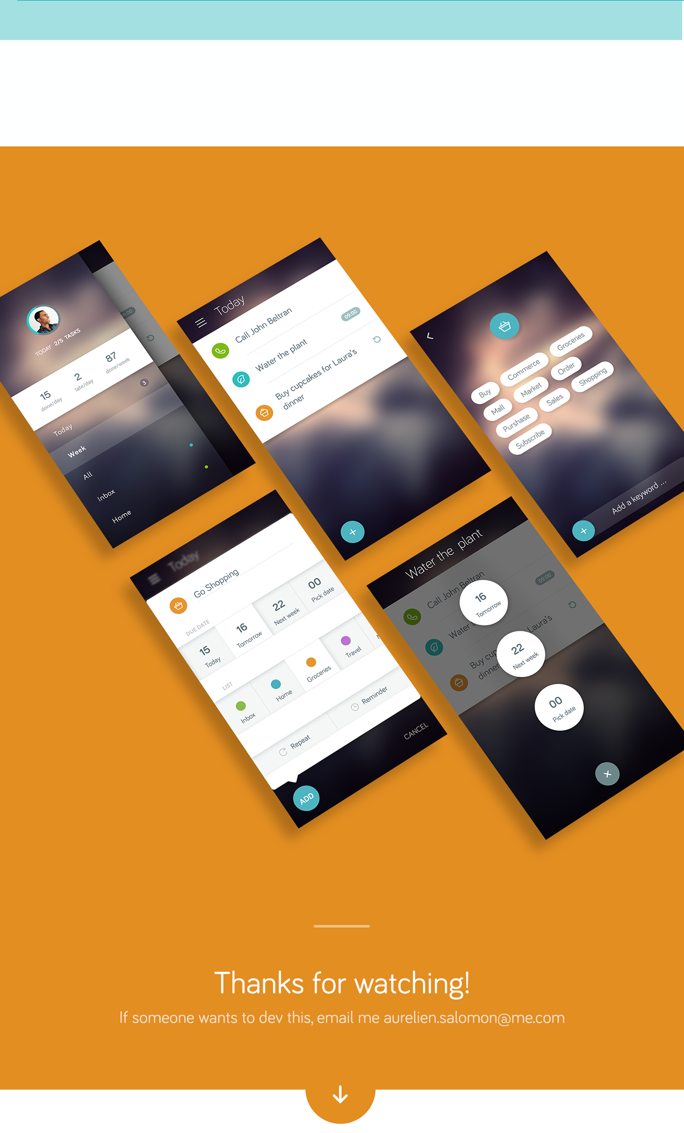 Emotional task app concept on Behance Ios app design