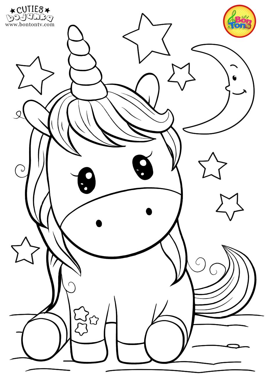 Cuties Coloring Pages For Kids Free Preschool Printables Slatkice Bojanke Cute Animal Unicorn Coloring Pages Animal Coloring Pages Spring Coloring Pages
