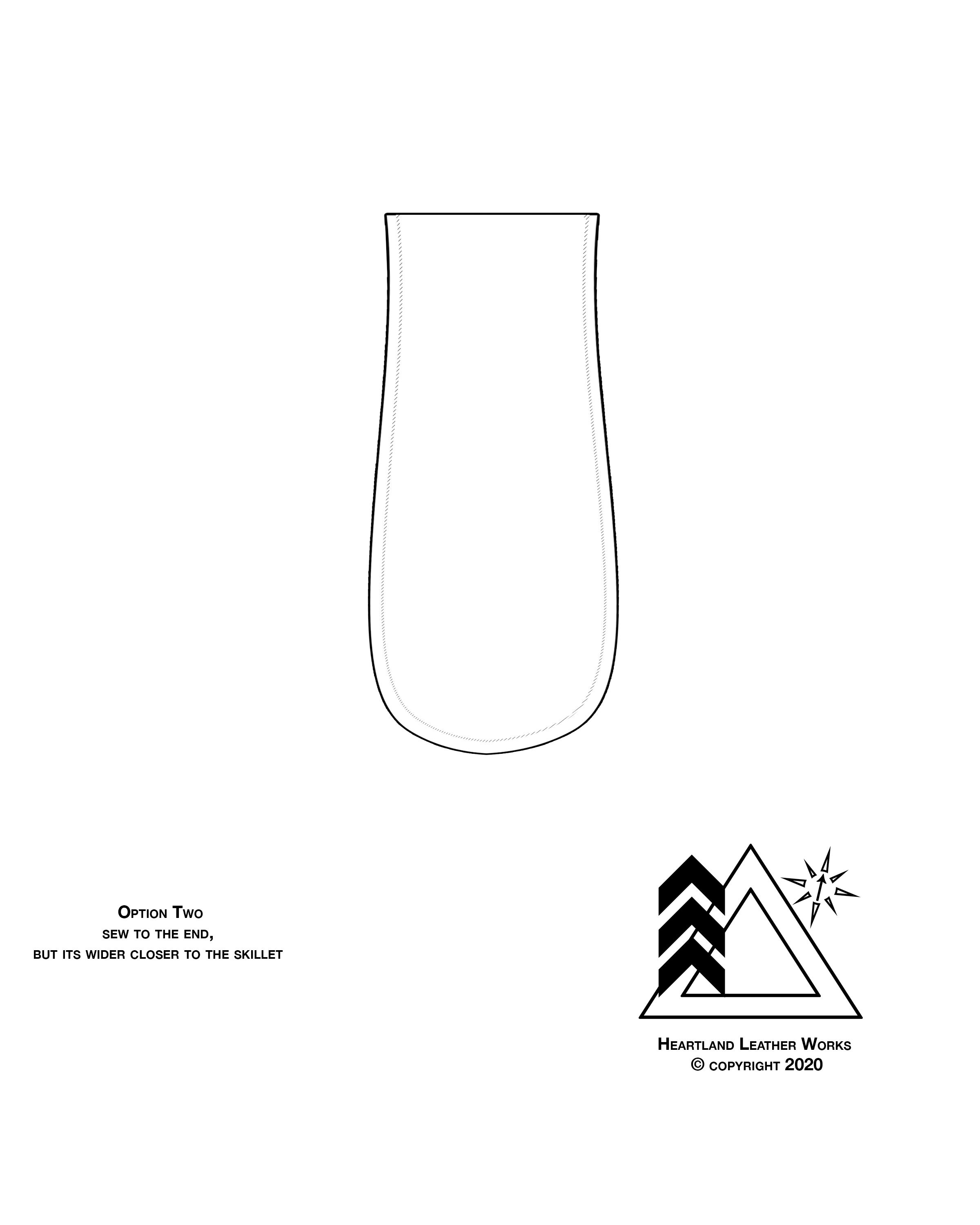 Free Leather Pattern (Skillet Handle in 2020 Leather