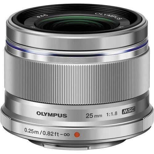 Olympus M Zuiko Digital 25mm F 1 8 Lens Silver V311060su000 Digital Lenses Olympus Camera Pen Camera