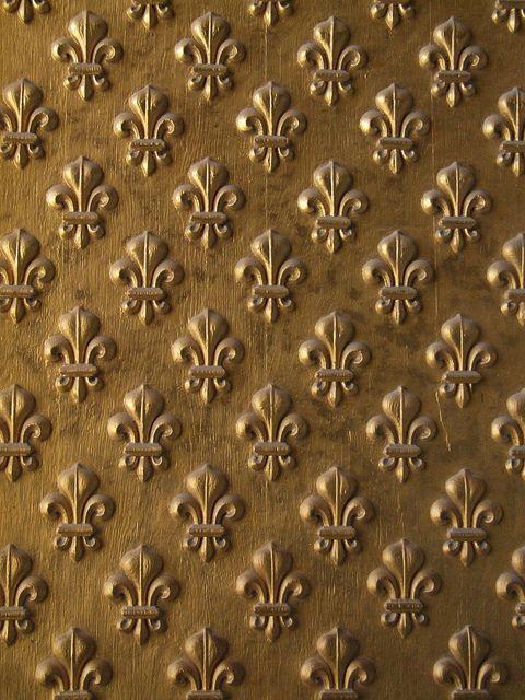 Fleur-de-lis pattern from the doors to Napoleon's Tomb in Paris.
