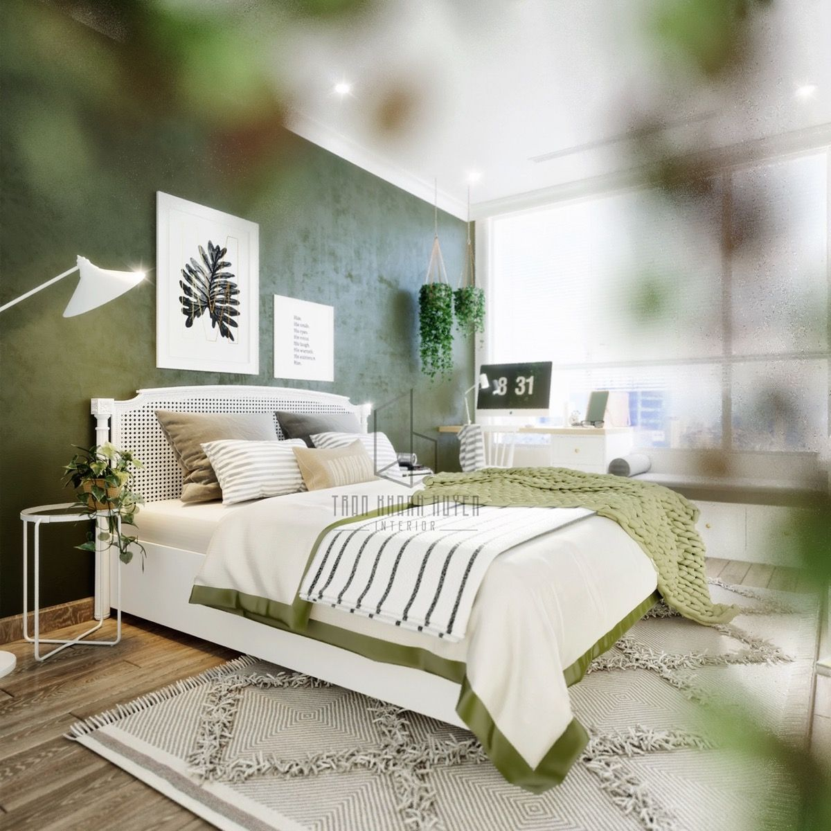 Home interior ideas for bedrooms  homes with a modern botanical vibe  home decor  modern and