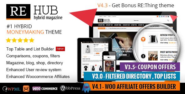 WordPress theme REHub v4.3.3 Directory, Shop, Coupon,   syriawas ...